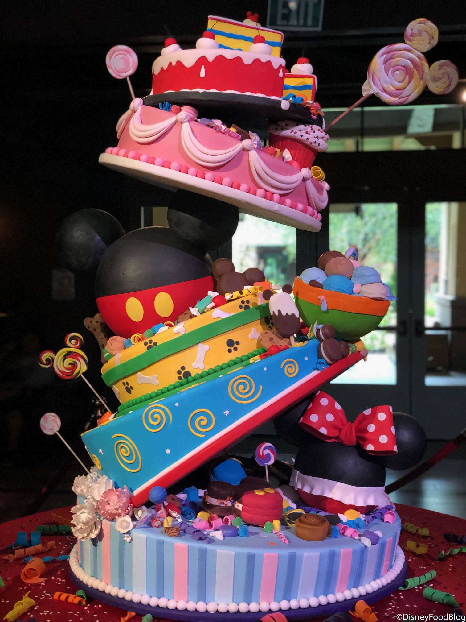 Awesome Check Out Mickeys 90Th Birthday Cake In Disneyland Resorts Grand Funny Birthday Cards Online Aeocydamsfinfo