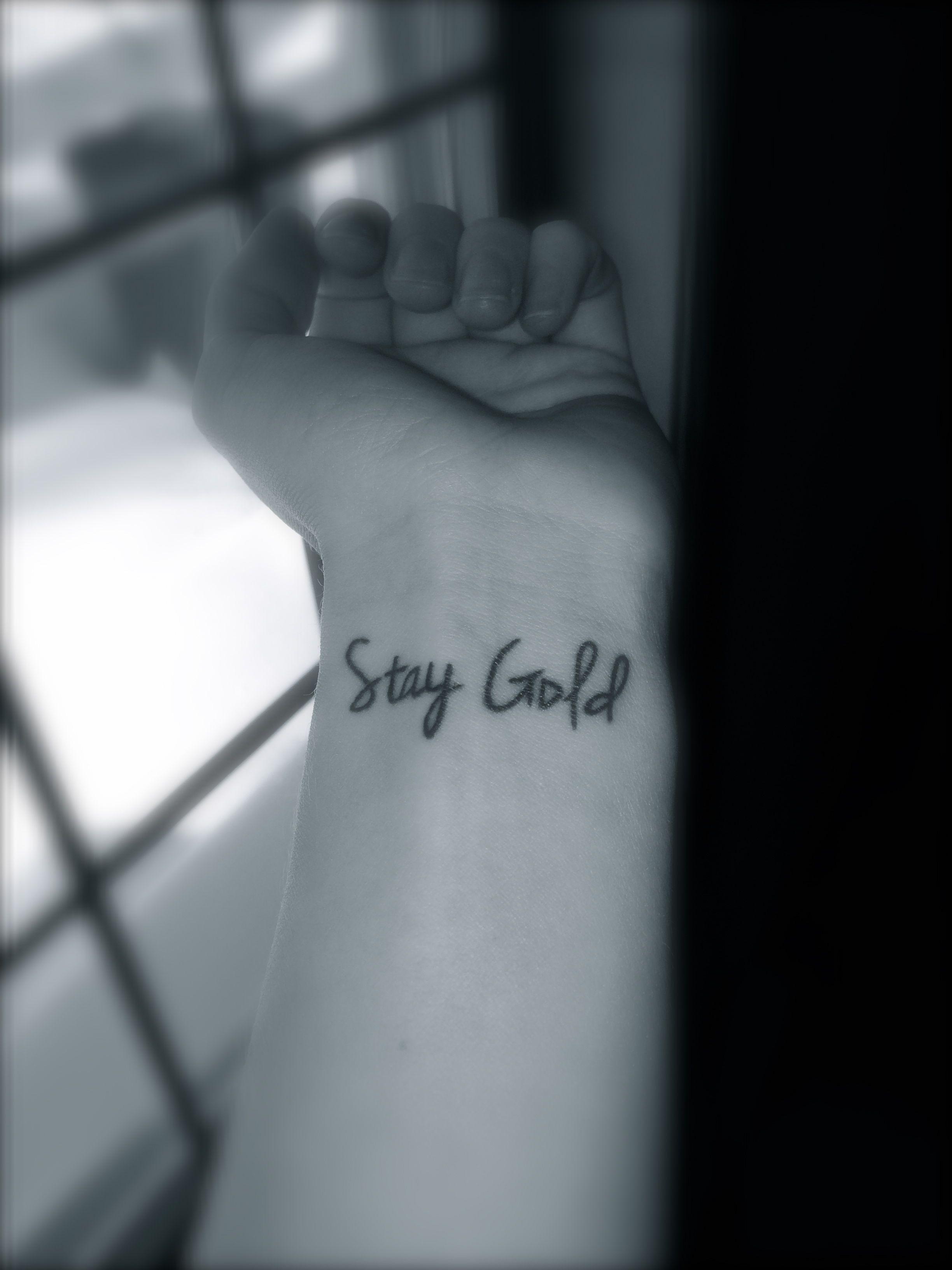Pin By Fashion Tattoos On Tattoos Nerdy Tattoos Stay Gold Tattoo Gold Tattoo
