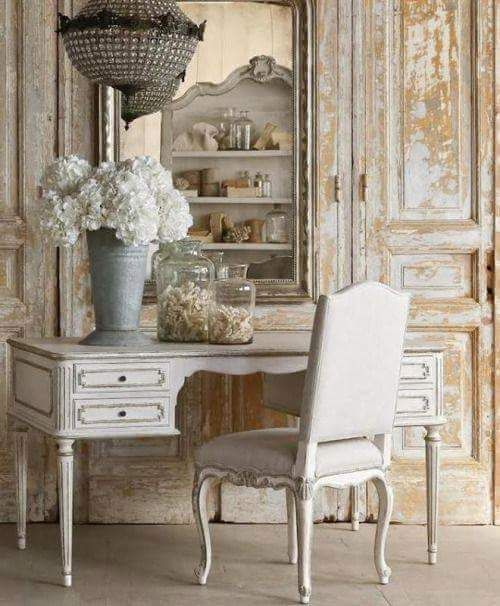 French country desk decor