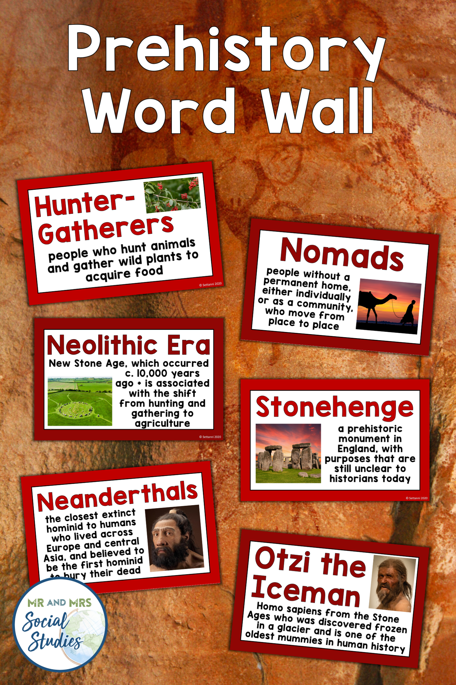 Prehistory Word Wall Early Humans Stone Age In