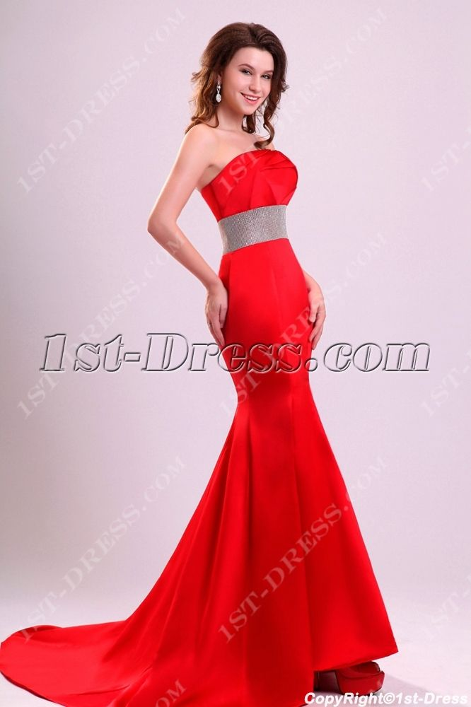 Charming Red Sheath Short Train Celebrity Dresses:1st-dress.com ...