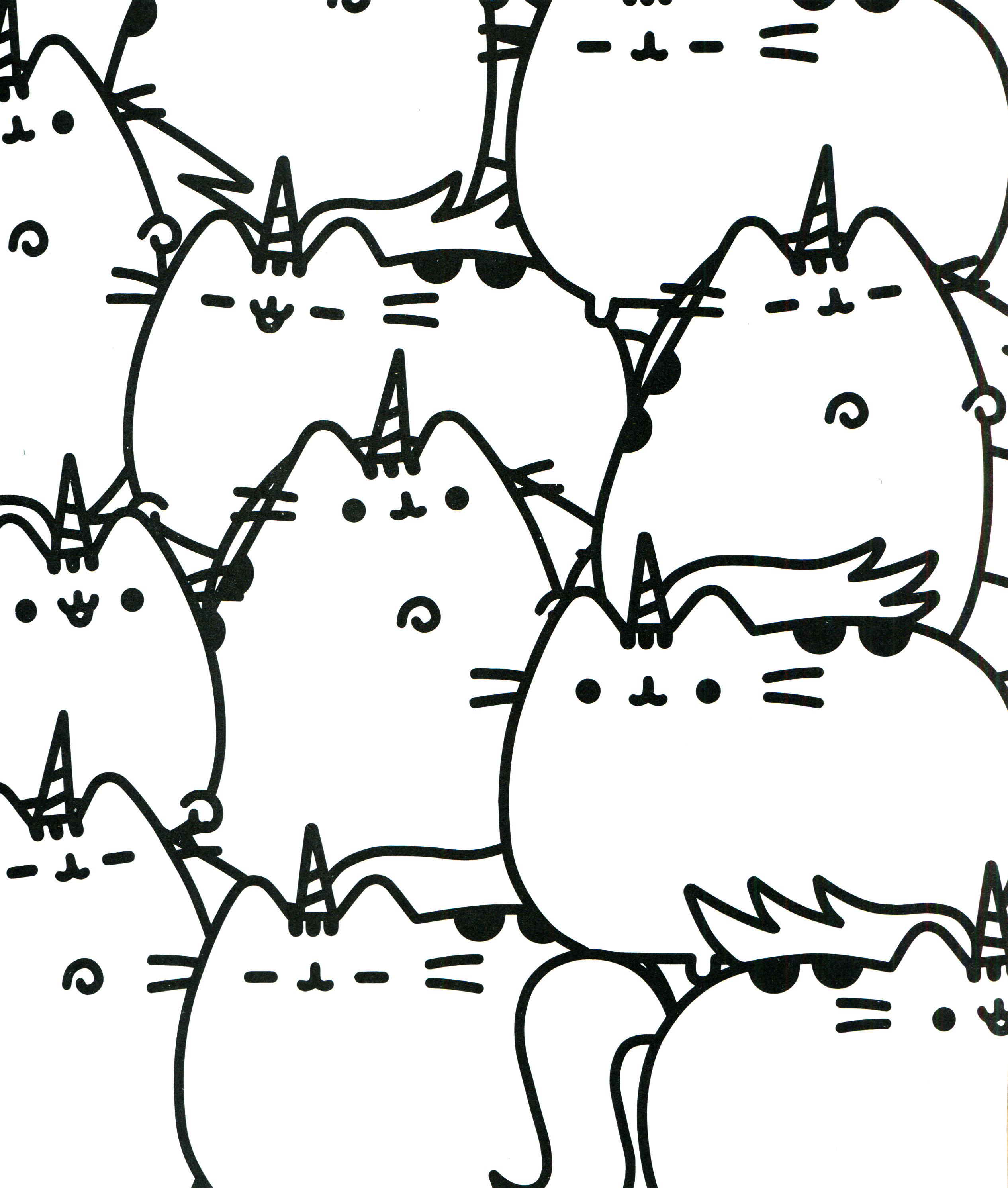 Unicorn Pusheen Cat Coloring Pages Designs Collections