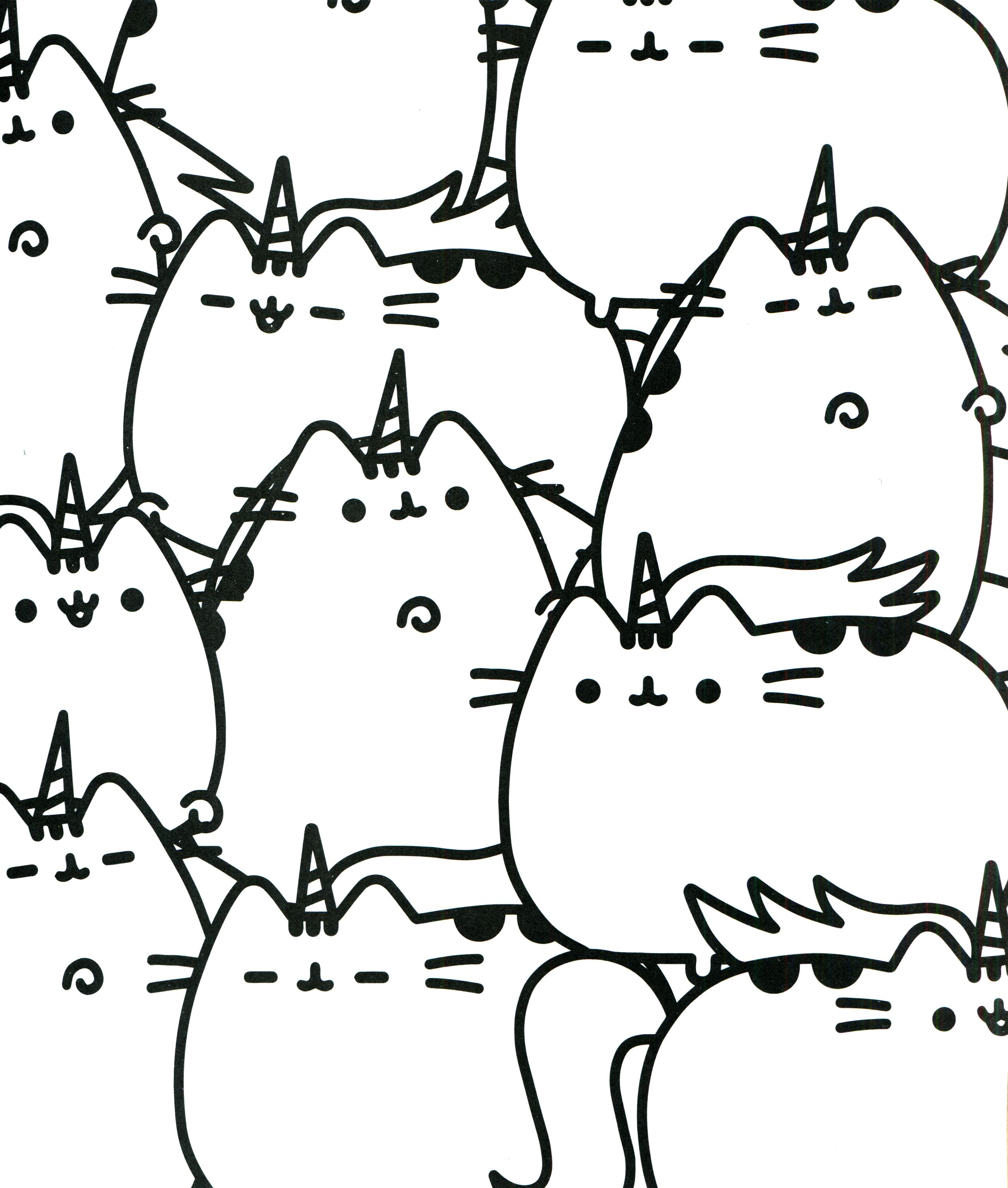 Pusheen Coloring Book Pusheen Pusheen The Cat Coloring Pages