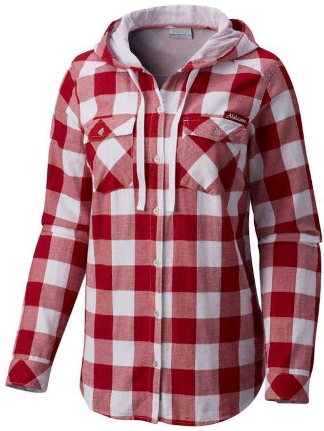 e2e8d61df Columbia Women's Columbia Alabama Crimson Tide Times Two Hooded Button-Down  Shirt