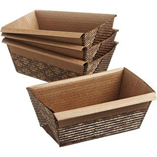 Regency Loaf Pans Disposable Italian Stand Alone  4 x 2 inch Mini , 4 pack