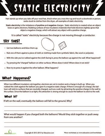 Worksheets For Kids And Kid On Pinterest  Electricity  Pinterest