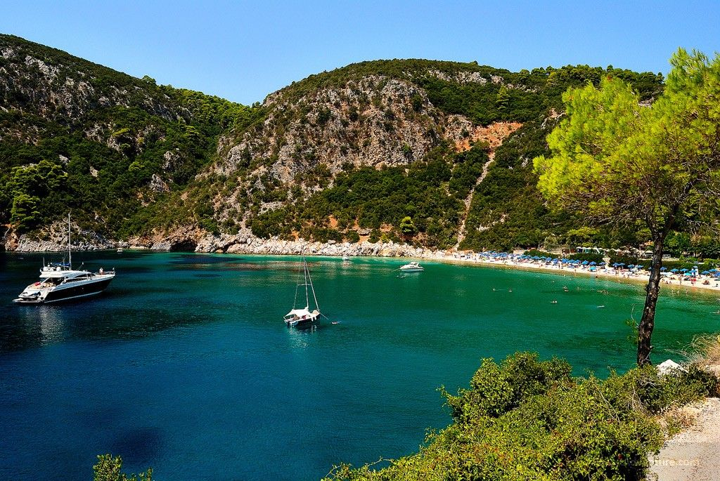 If there was just one place you could visit once in your life, you've got to see the majesty of Skopelos Greece. Majestic color of the sea.