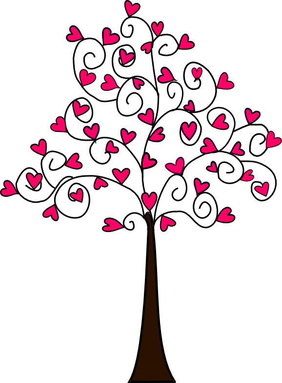 Beyond the Fringe: Free Heart Tree Digi\'s   bordados   Pinterest ...