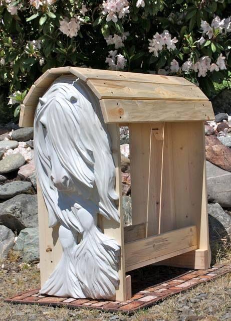 Custom Wood Carved Saddle Racks Made By Ingrid Smith