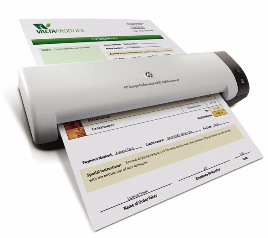 Hp Scanjet Professional 1000 Mobile Scanner Mobile Scanner