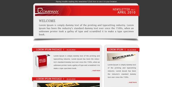 Company Newsletter  Email Template  Company Newsletter  Modern