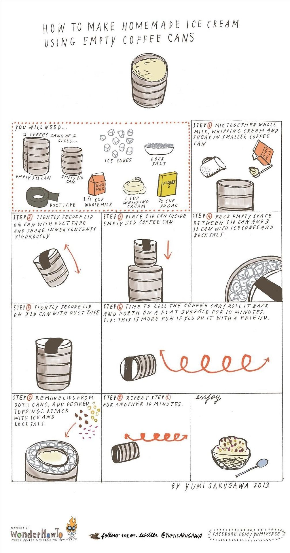 how to make homemade ice cream using empty coffee cans