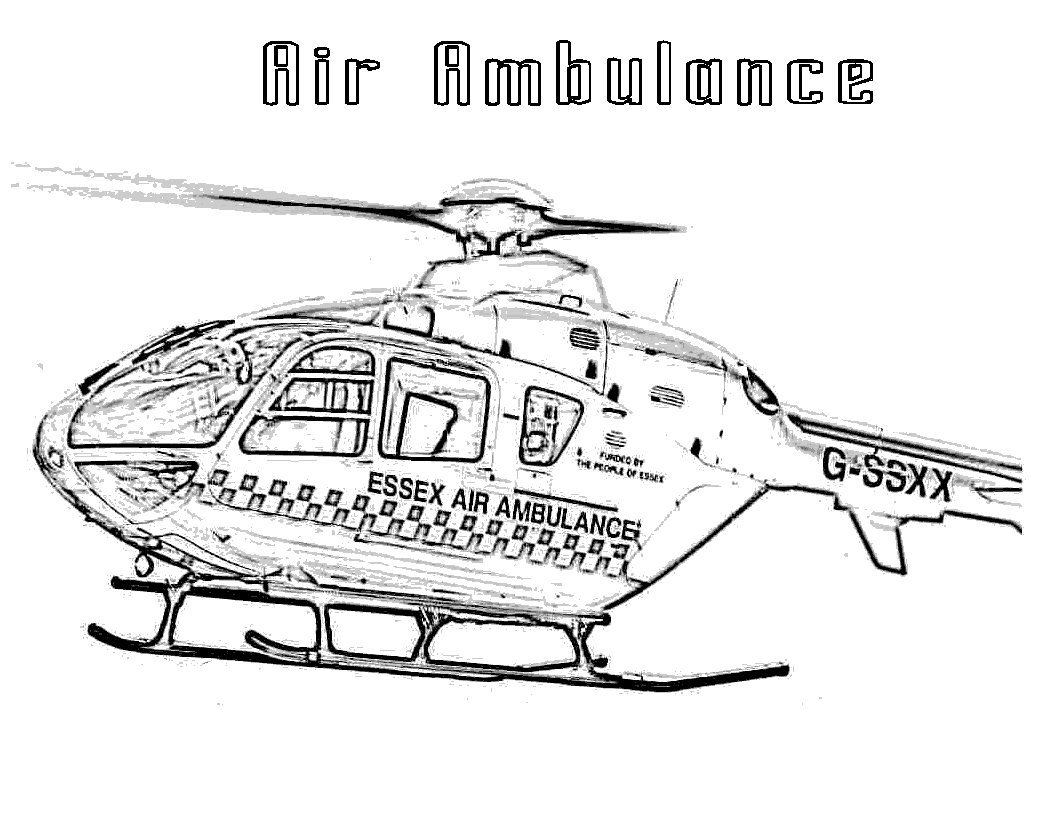 Best Helicopters Air Ambulance Helicopters Coloring Pages