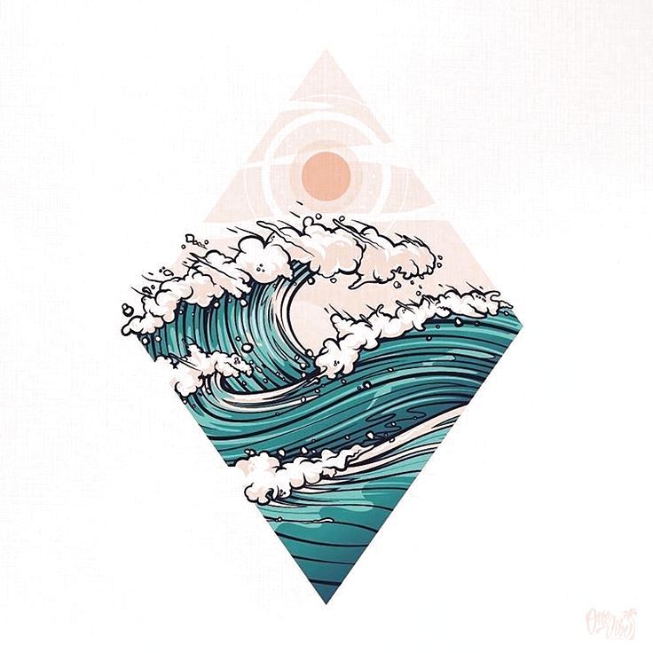 This graphic is beautiful! The roaring waves reminds me of summer days on the OBX! #beachgraphic #wavedrawing #surflife #obxsummer #beachlife #coastalliving #beachart