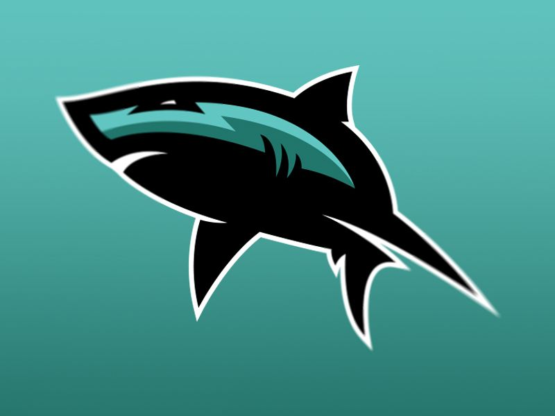 Shark sports logo | Discover more ideas about Sports logos and Logos