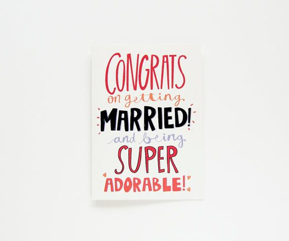 Newlyweds Card Wedding Congratulations Card Congrats Card Mr