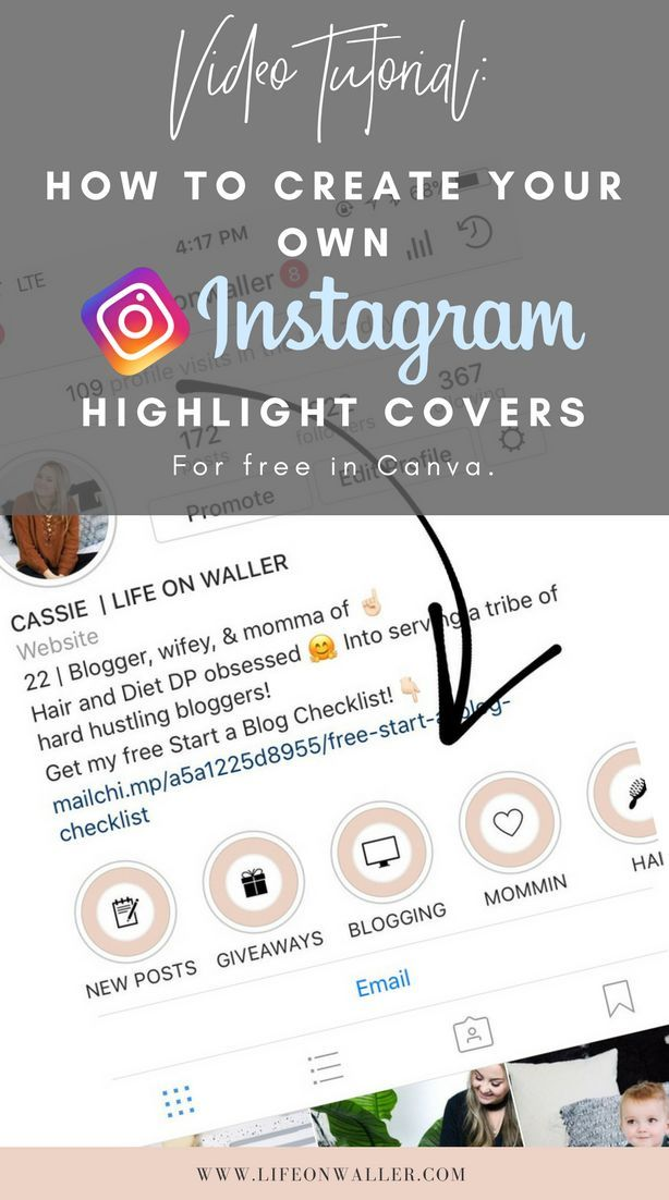 How to make instagram highlights cover canva