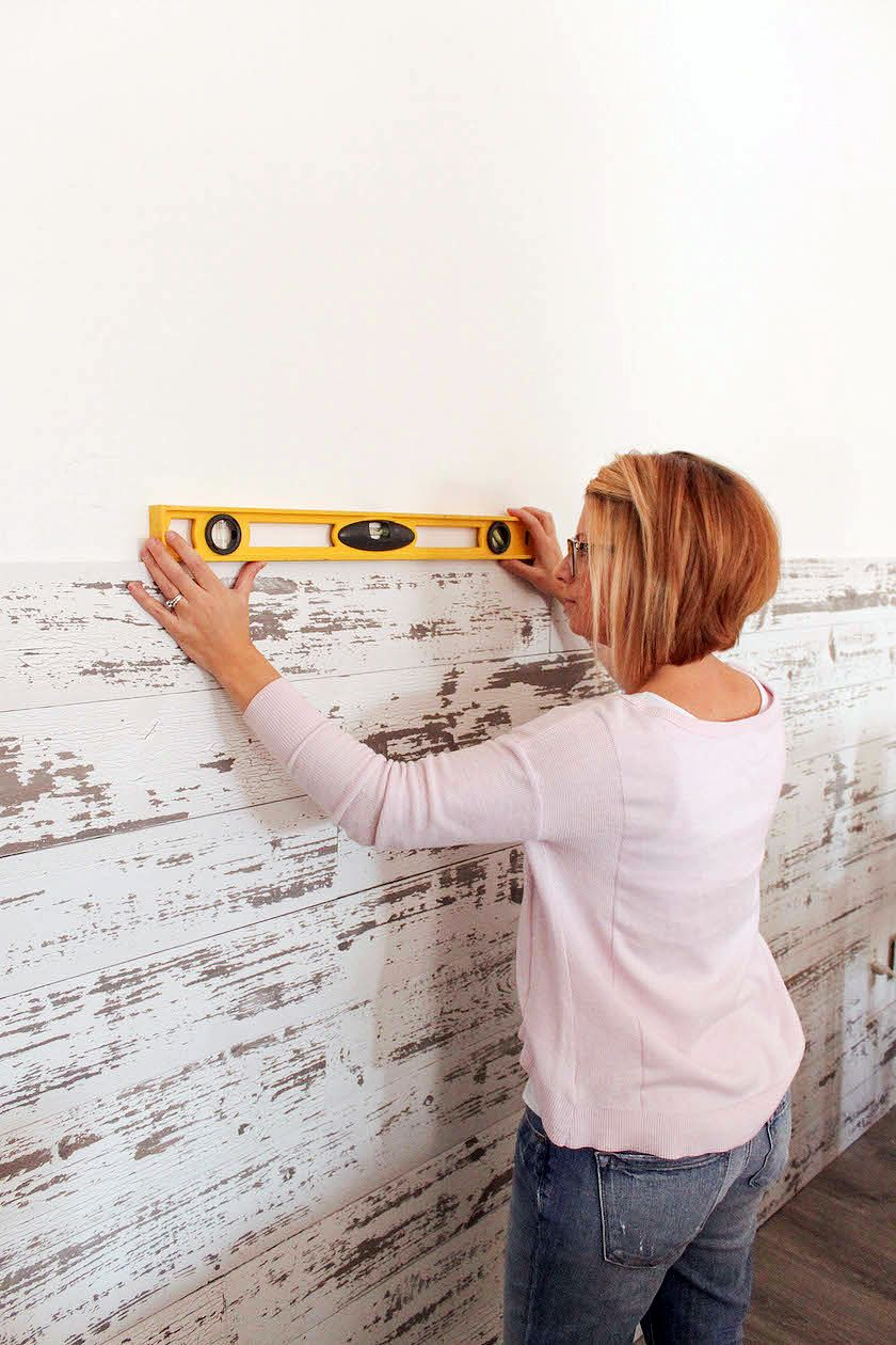 How To Install A Wood Plank Wall Plank Wall Bedroom