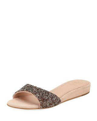cd3db3386 Tory Burch Elodie Glitter Wedge Sandals