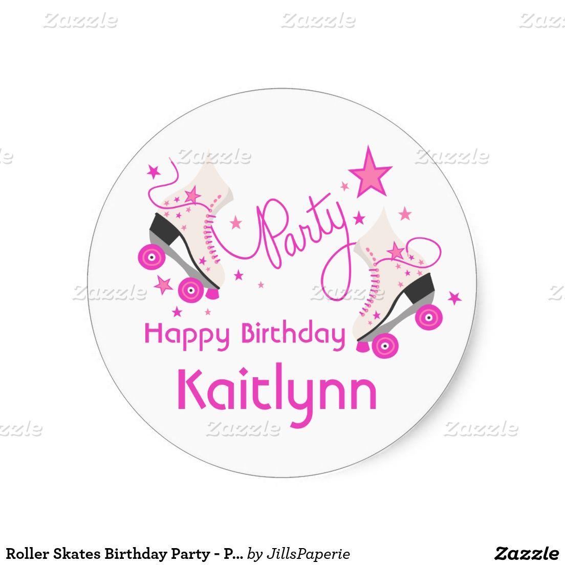Roller Skates Birthday Party - Pink