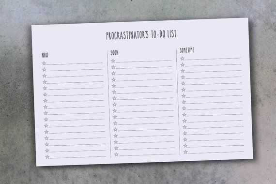 Procrastinating Planner / Priority Planner - Procrastinator\u0027s To-Do