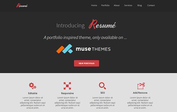 10 Awesome Free and Premium Adobe Muse Templates Website design - Logiciel De Dessin De Maison Gratuit