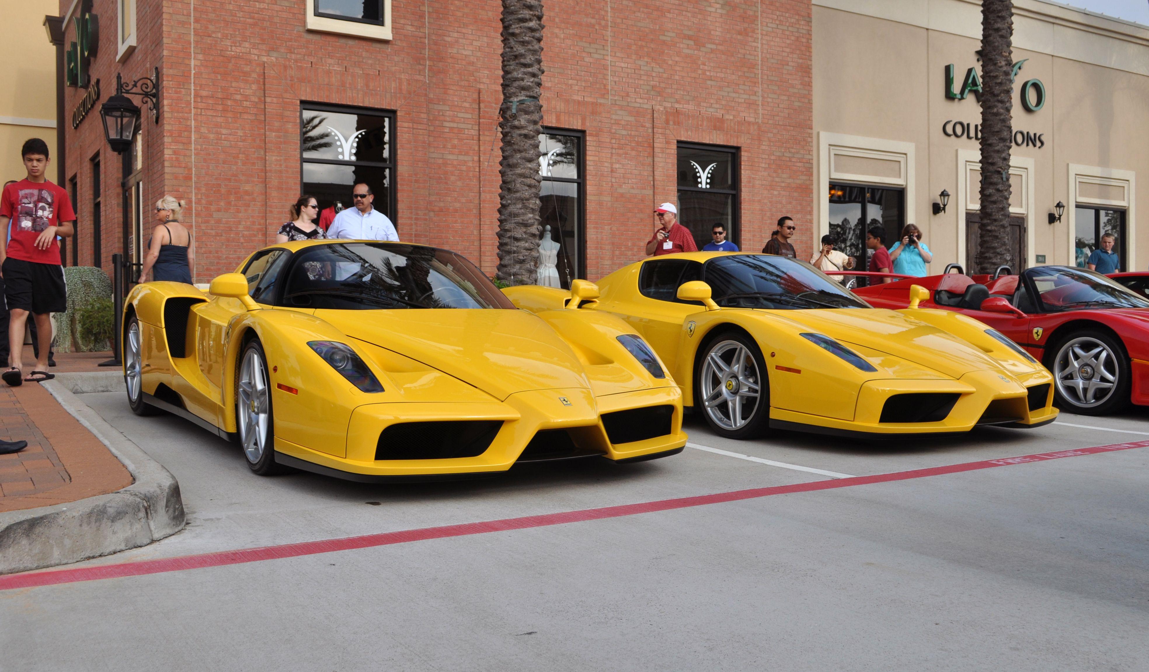 Two Ferrari Enzo Supercars At Houston Coffee And Cars Super Cars Dream Cars Italian Cars