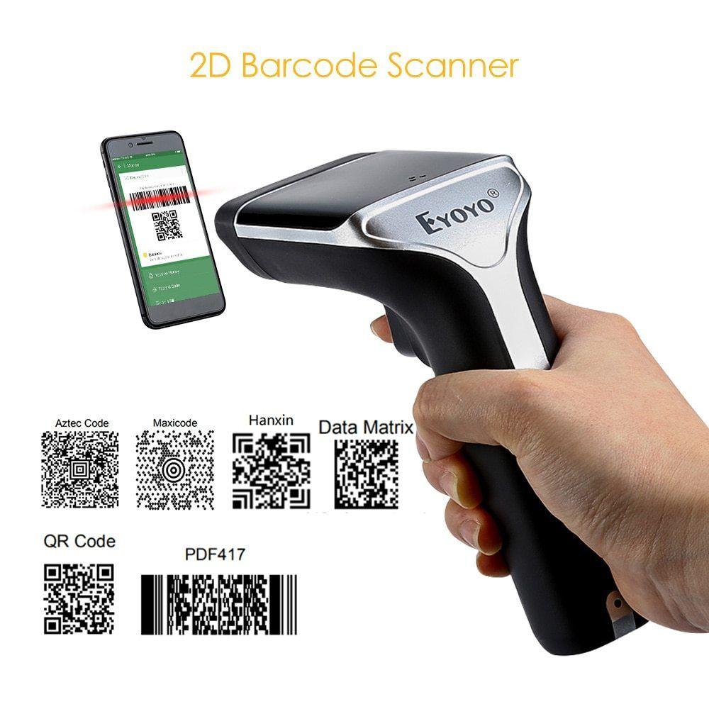 EYOYO EY-007 2 4G Wireless 2D Scanner Read QR Code PDF417