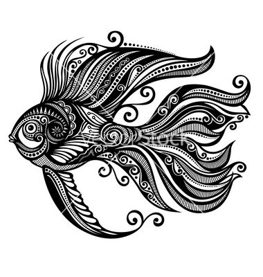 Abstract sea fish vector by Krivoruchko on VectorStock® is part of  -