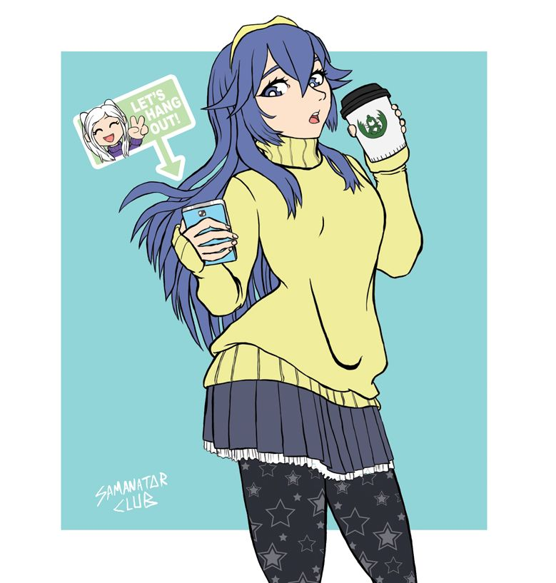 I Feel Like Drawing Lucina In A Cute Fall Outfit Fire Emblem