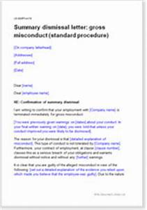 Termination Letter Sample For Misconduct