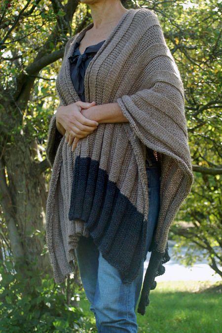 Olio Knits Ruana Wrap Knitting Pattern Knit Patterns Yarn Store