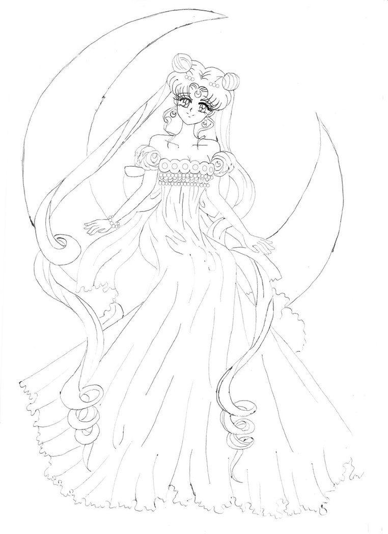 Sailor Moon Princess Serenity Sailor Moon Coloring Pages Sailor Moon Crafts Moon Princess