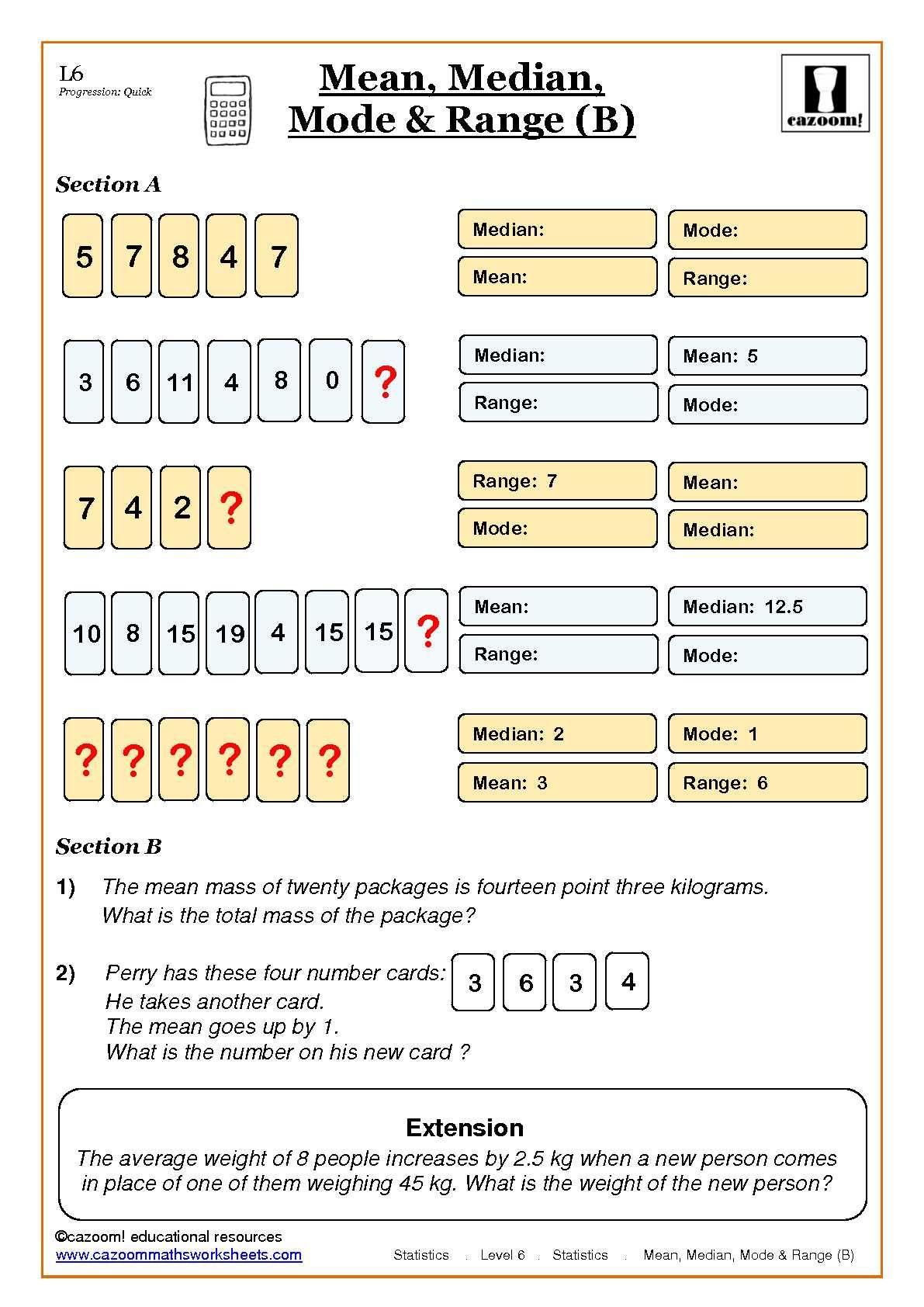 Cazoom Maths Worksheets - Statistic Maths Worksheets   Letter worksheets  for preschool [ 1684 x 1191 Pixel ]