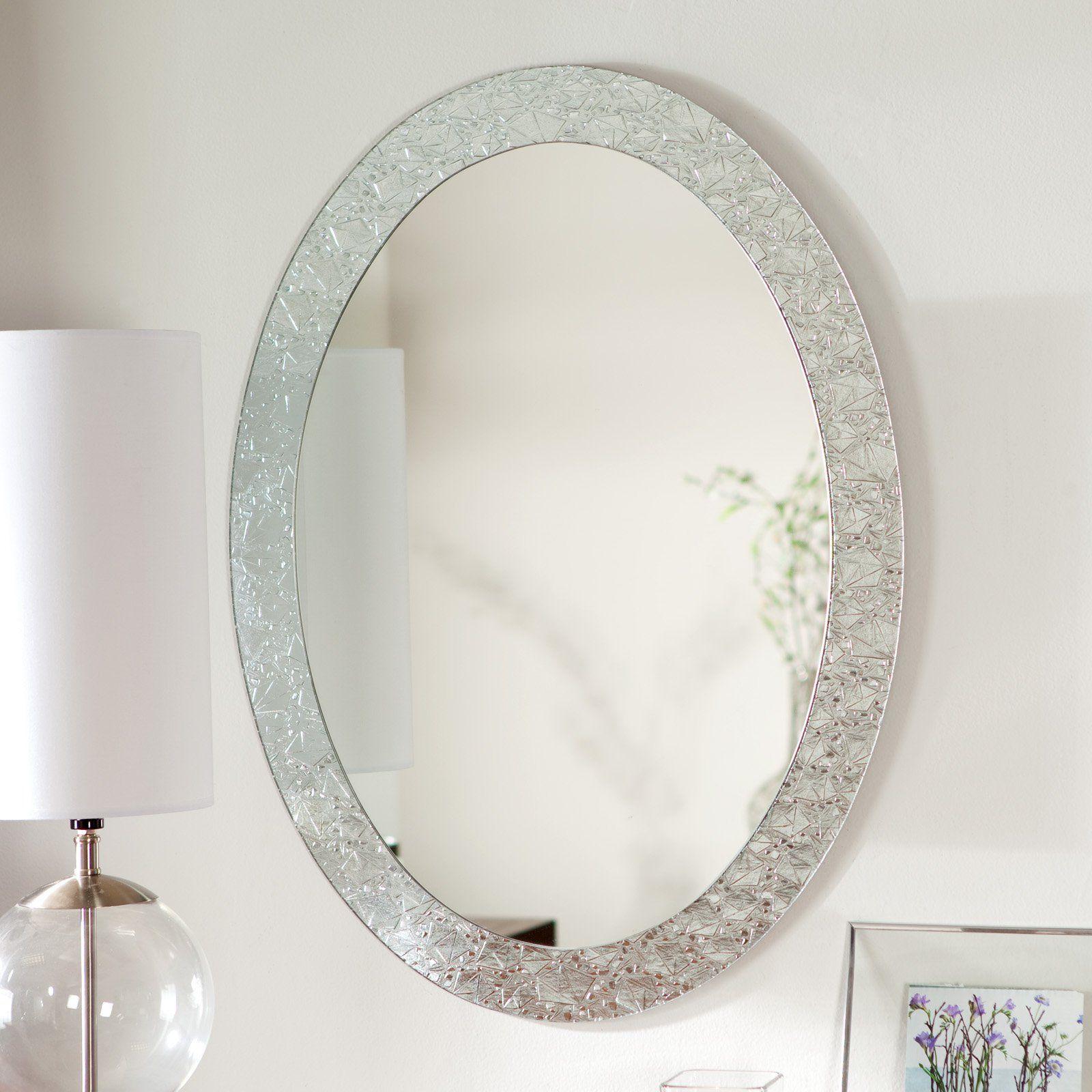 daƒacor wonderland frameless crystal wall mirror 23 5w x 31 5h in