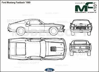 Ford Mustang Fastback 1969 Blueprints Ai Cdr Cdw Dwg Dxf Eps Gif Jpg Pdf Pct Psd Svg Tif B Mustang Fastback Ford Mustang Fastback Ford Mustang
