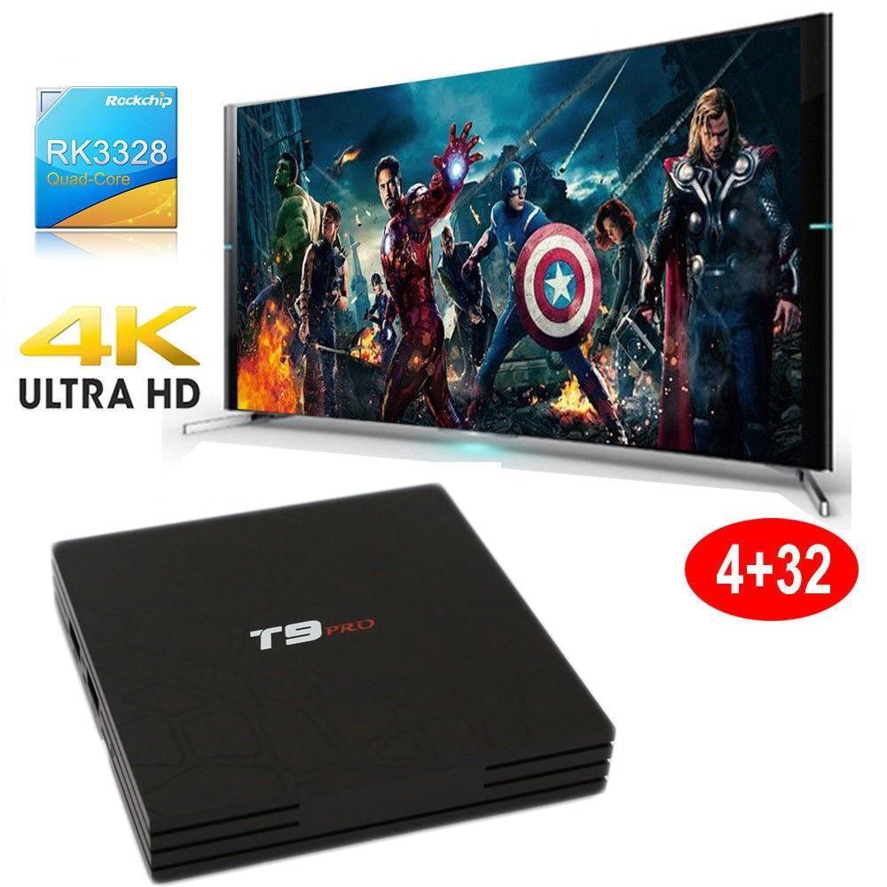 Smart Tv Box T9 Pro Android 7.1.2 4 Gb Ram 32 Gb 4 K Iptv Gpu 5 Core Quad Wifi