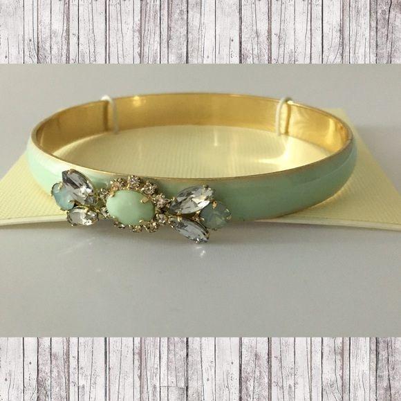Lauren Conrad Bracelet ✨ Mint green over gold bracelet with mixed stone embellishment ✨ LC Lauren Conrad Jewelry Bracelets