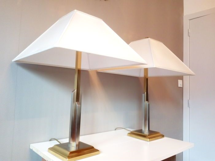 Design Tafel Lamp : Online veilinghuis catawiki unknown designer paar tafellamp