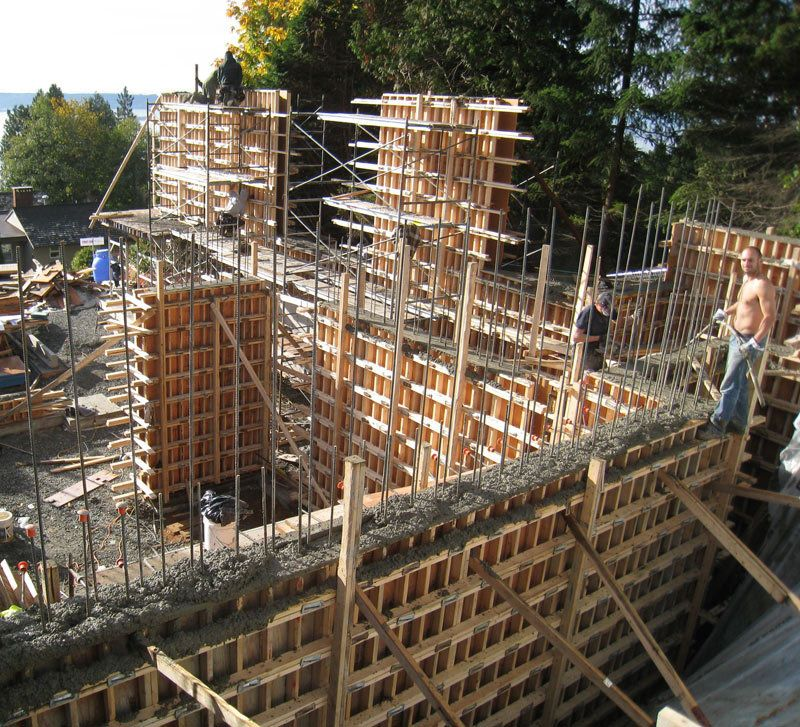 Wall Formwork Construction Of House Walls And Retaining