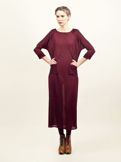 Bordeaux colour dress. Swedish design is the greatest.
