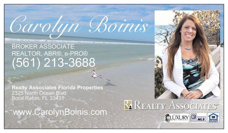 Carolyn Boinis Boca Raton Real Estate Broker Associate with Realty ...