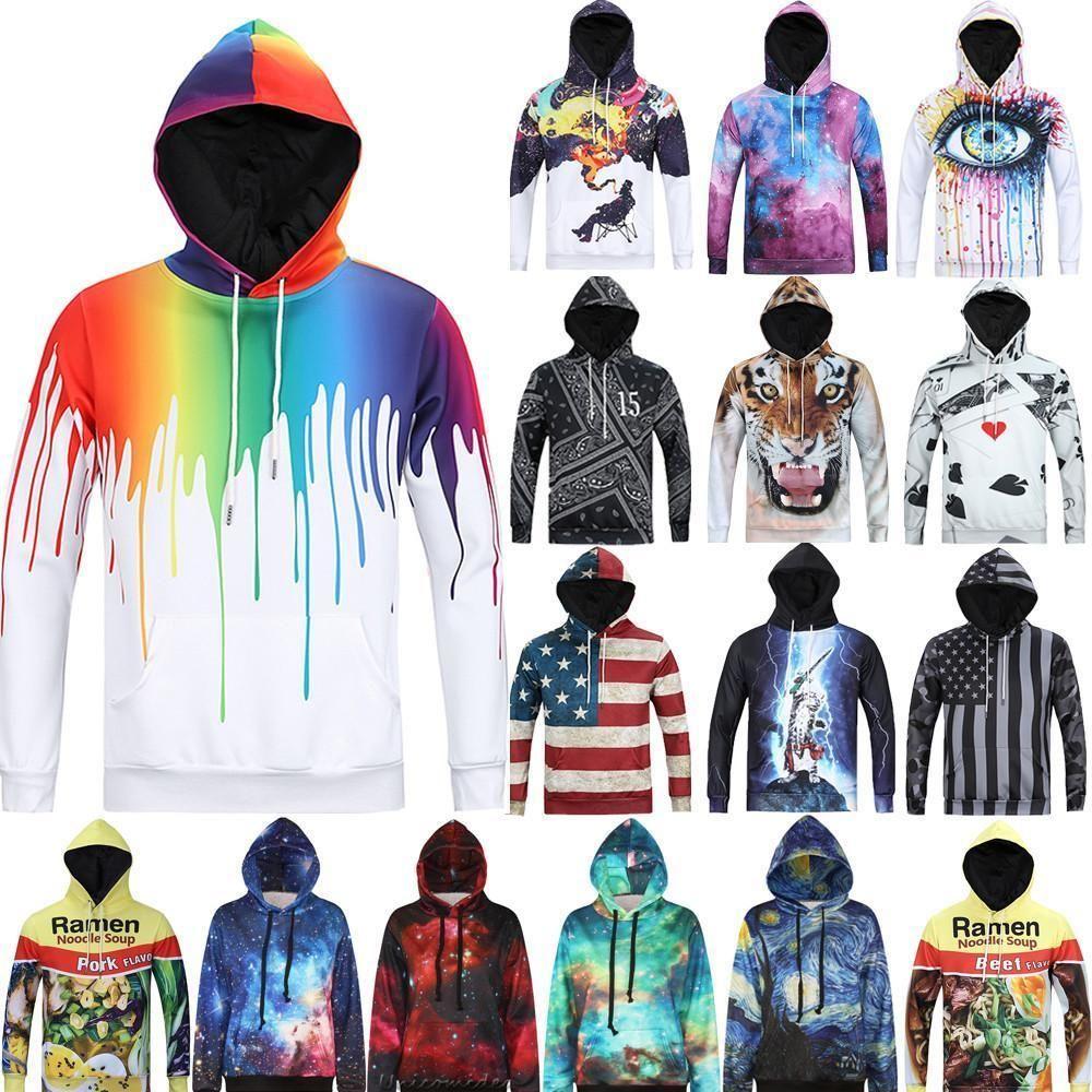 3D Graphic Print Men Women Hoodie Sweater Sweatshirt Jacket Pullover Top Jumpers #Unbranded #HoodieSweatshirtJacketPulloverTopsJumpers