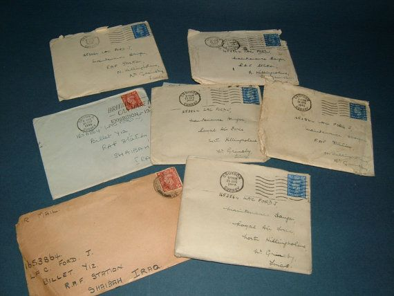 7 X 1940s Wwii Letters To Leading Aircraft Man By Biminicricket 45 00 Letters Wwii 1940s