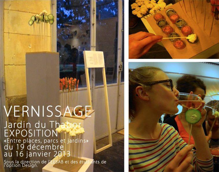 Vernissage, expo Parc du Thabor 2013