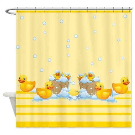 Kids Bathroom Rubber Duckies Yellow Shower Curtain On CafePress Ducky