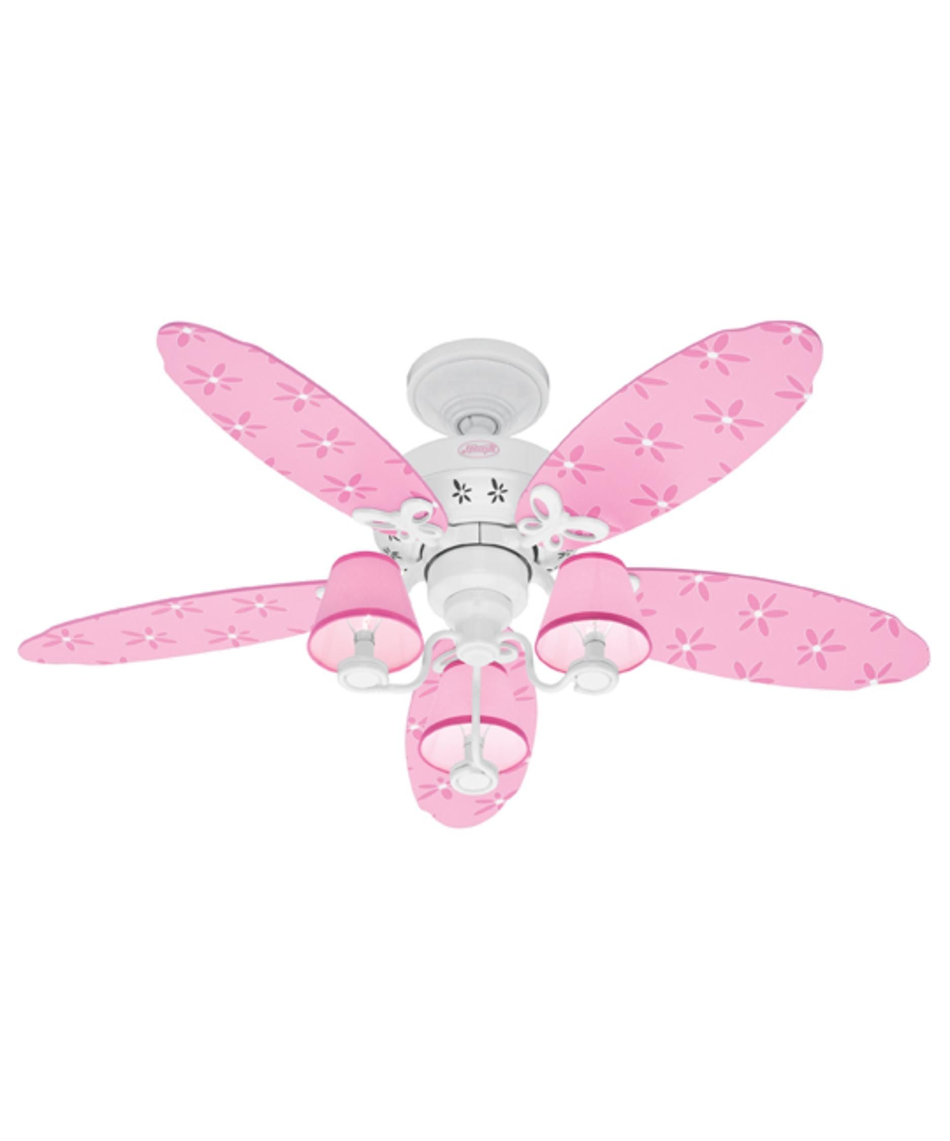 Hunter Pink Butterfly Ceiling Fan