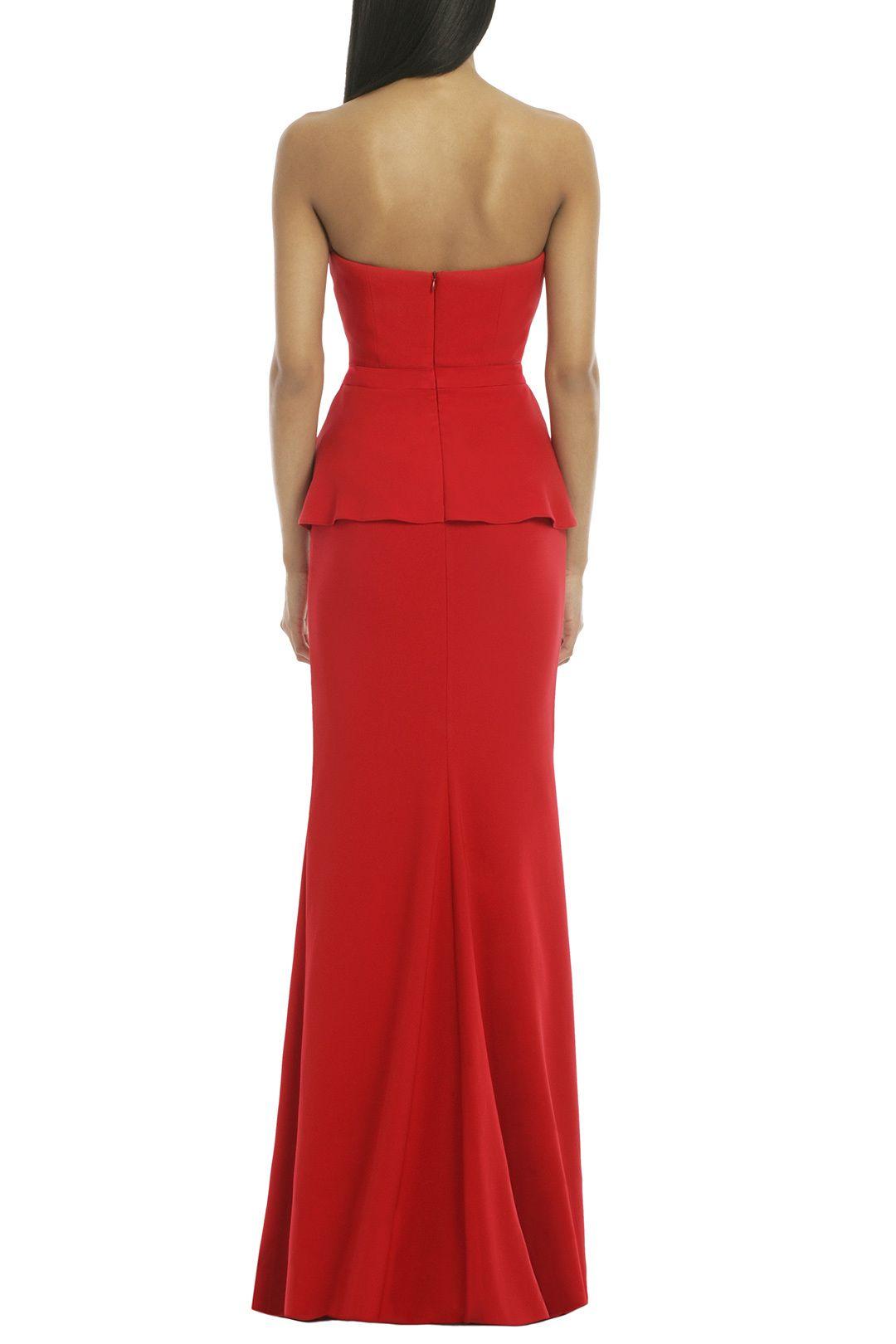 Rouge Rosalind Peplum Gown by Badgley Mischka   Vêtements d ...
