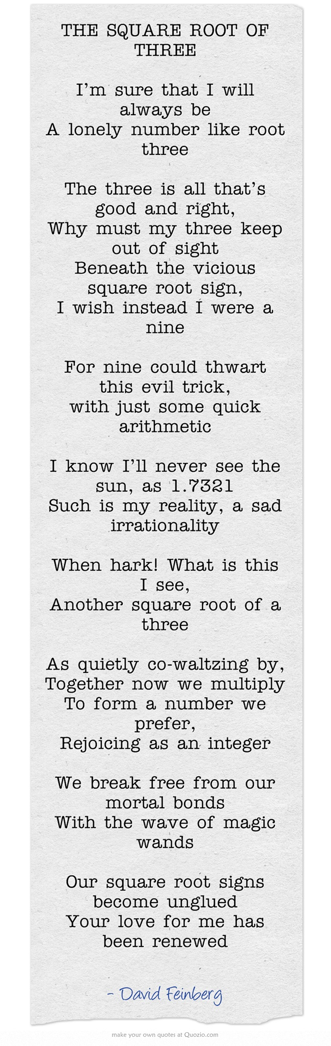 THE SQUARE ROOT OF THREE | Wedding Vows and Readings | Pinterest ...
