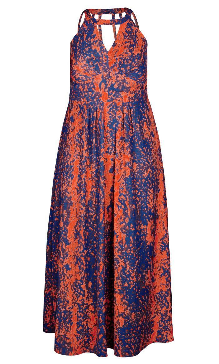 City Chic - COOL FLAME MAXI DRESS - Women\'s Plus Size Fashion ...